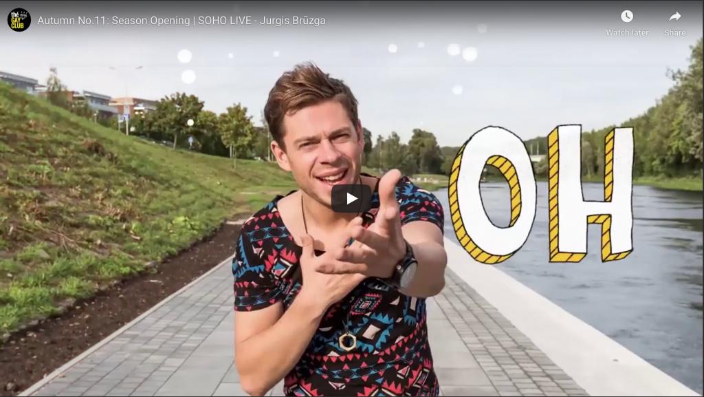 Jurgis Bruzga youtube screen to soho gay club vilnius