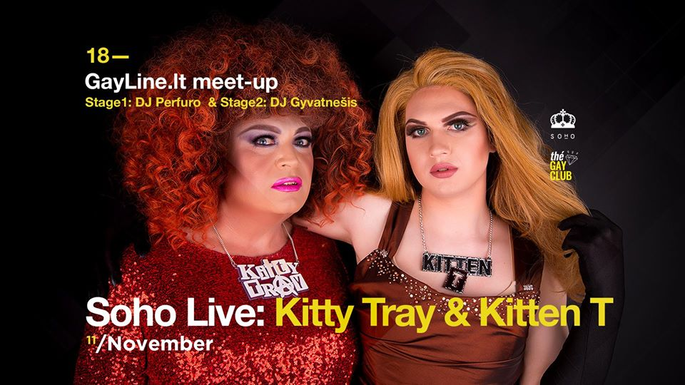 Kitty Tray and Kitten T at SOHO Gay Club in Vilnius